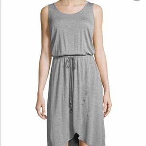 Neiman Marcus Active jersey dress with wrap skirt.